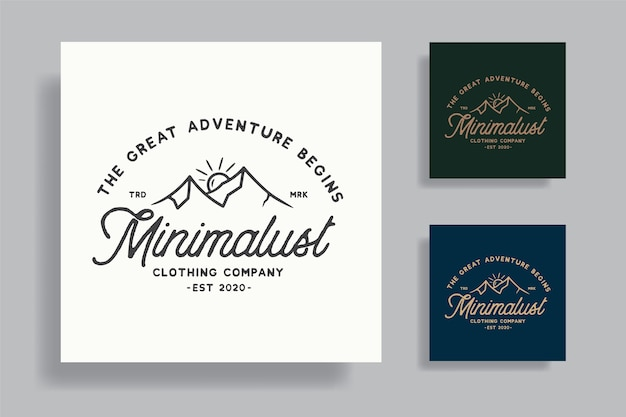 Vintage adventure badge tshirt design premium