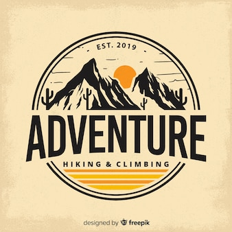 Vintage adventure log