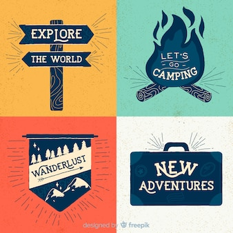 Vintage adventure logo collection