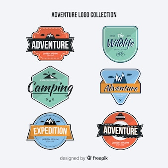 Vintage adventure logo collection
