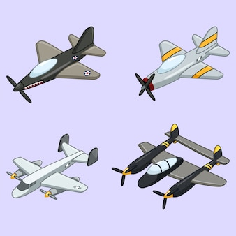 Коллекция vintage airplane