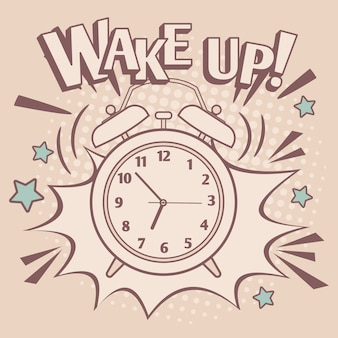Vintage alarm wake up poster