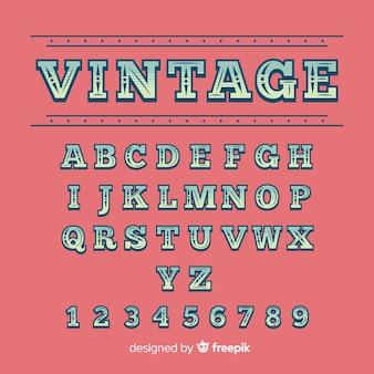 Vintage alphabet template