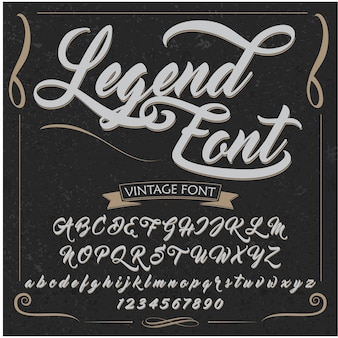 Vintage alphabet vector design