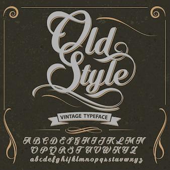 Vintage alphabet vector design