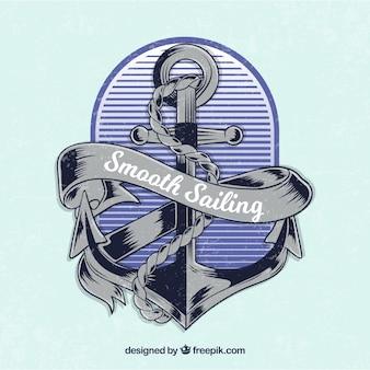 Vintage anchor background