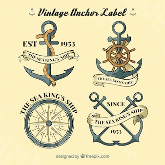 Vintage anchor label collection