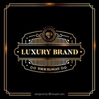 Винтажный и роскошный логотип