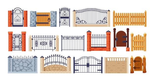 Винтажный и современный балконный фасад или дверной вход на частную территорию