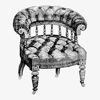Vintage armchair illustration