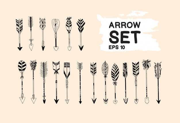 Vintage arrow set collection