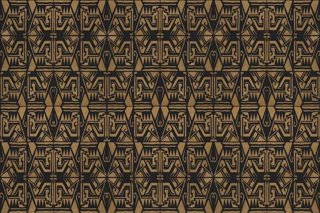 Vintage art decor golden pattern