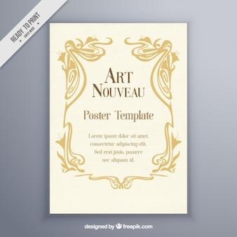 Vintage art nouveau poster template