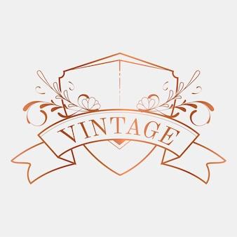 Роскошный векторный значок vintage art nouveau