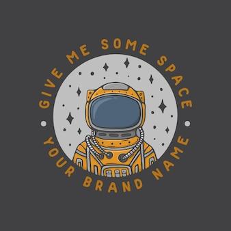 빈티지 우주 비행사 공간 그림