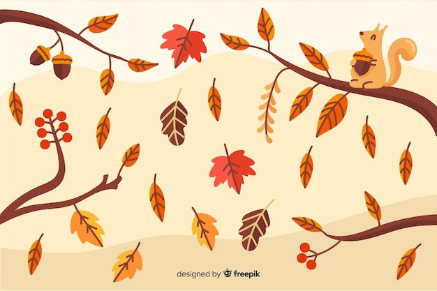 Vintage autumn background vintage style