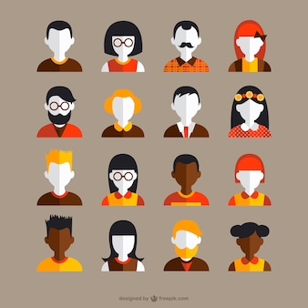 Vintage avatars collection Free Vector