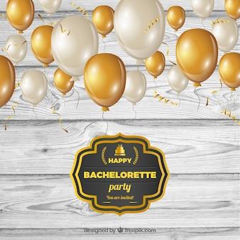 Vintage bachelorette party invitation
