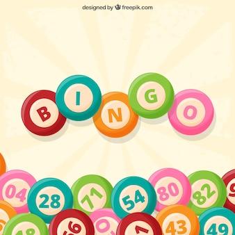 Vintage background of bingo balls