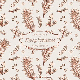 Vintage background of christmas branches