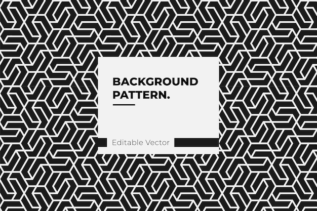 Vintage background decoration element line design pattern.