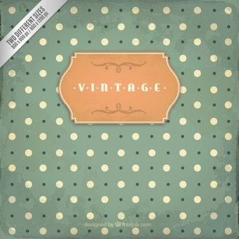 Vintage background in dotted style