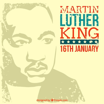 Vintage background of martin luther king day