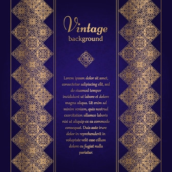 Vintage background, mosaic luxury ornament, ornate cover page, ornamental pattern template for design