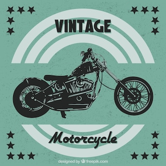Vintage background of motorcycle with stars