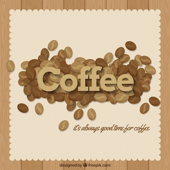 메시지와 함께 커피 콩의 빈티지 배경