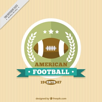 Vintage background with american football badge