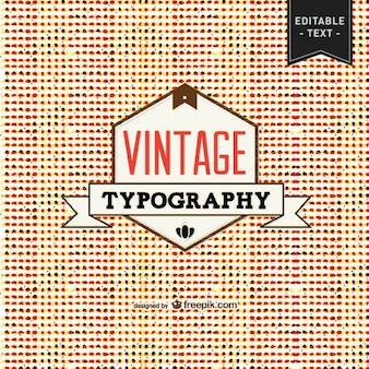 Tipografia libero vettoriale vintage