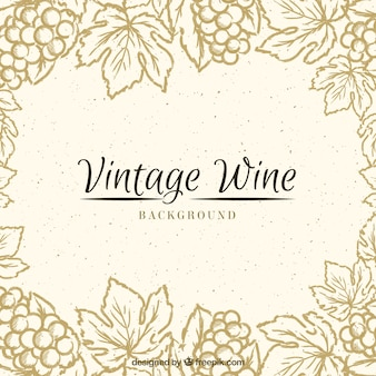 Vintage background with a floral frame