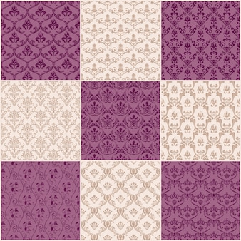 Vintage backgrounds and seamless patterns