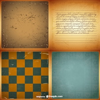 Vintage backgrounds set