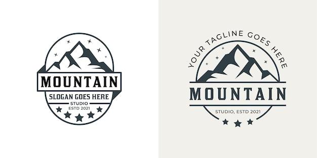 Vintage badge of mountain