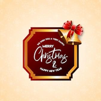 Рождественская открытка vintage badge