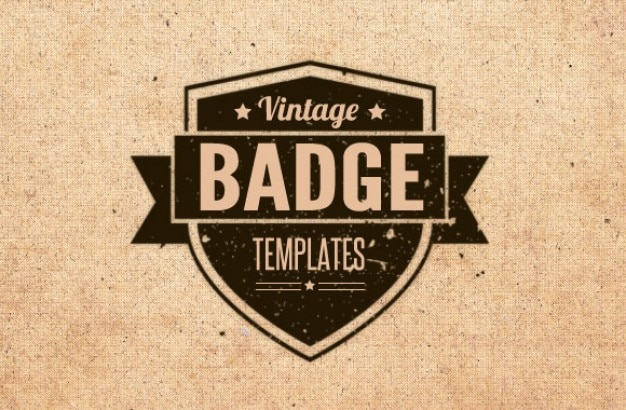 Vintage badges and brushes