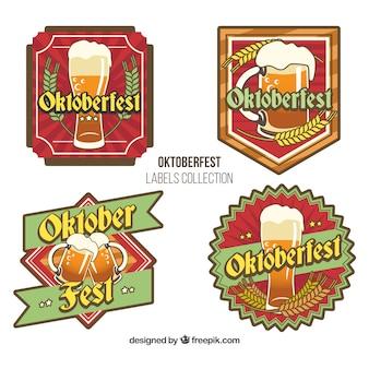 Vintage badges set of oktoberfest festival