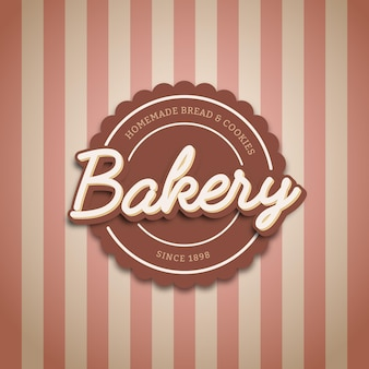 Vintage bakery logo label and badge template
