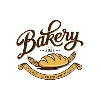 Шаблон логотипа старинные пекарни
