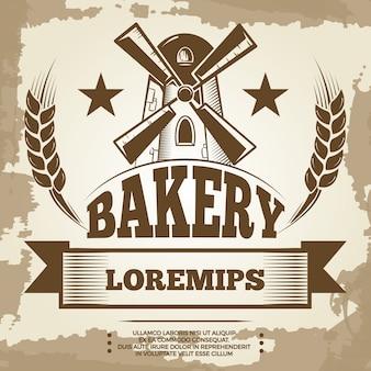 Vintage bakery poster design