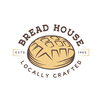 Vintage bakery shop logo