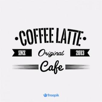 Vintage banner of latte