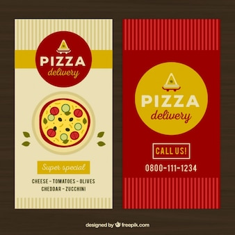 Vintage banners of pizza