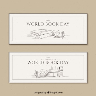 Vintage banners for world book day