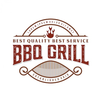 Vintage barbecue logo for restaurant