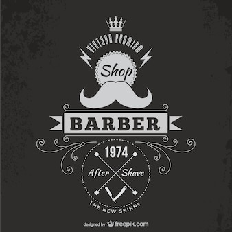 Vintage barber badge Premium Vector