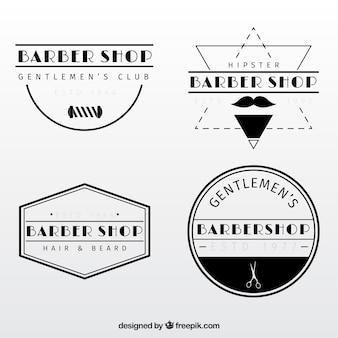 Vintage barber shop logo templates