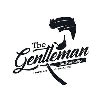Vintage barbershop logo templates